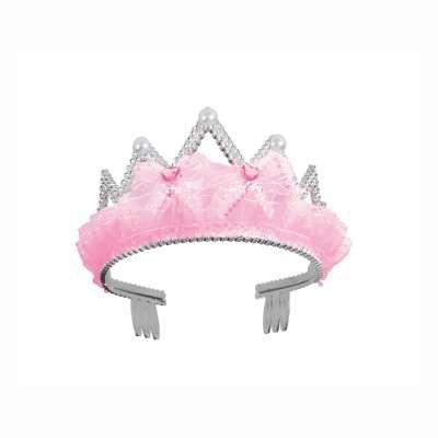 Pink Bows and Ribbon Tiara