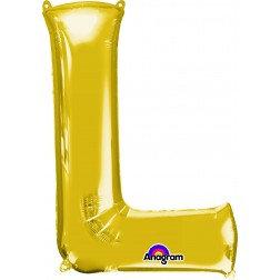 "Super Shape Letter- "" L "" Gold"