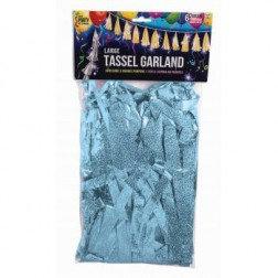 Tassel Light Blue metallic holographic