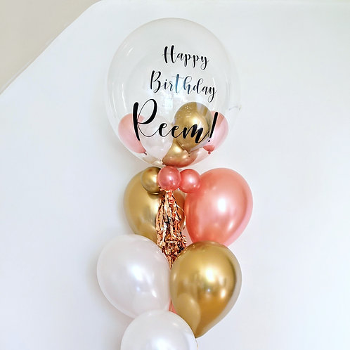 Personalised Bubble Balloon with Latex