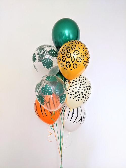 8 Latex Balloons - Wild