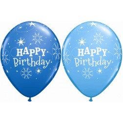 """11"""" Latex Balloon- Blue HBD"""