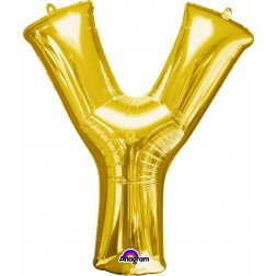 """Super Shape Letter- """" Y """" Gold"""