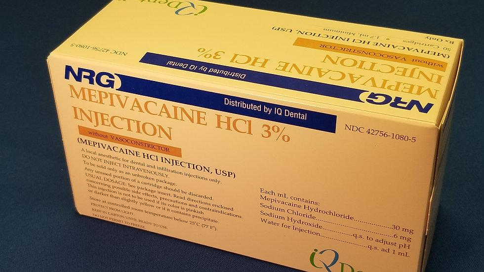 Mepivacaine HCl 3% Plain Bx/50