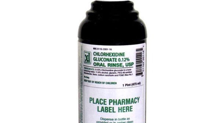 Chlorhexidine Gluconate Mouthwash Oral Rinse, Mint 16 oz