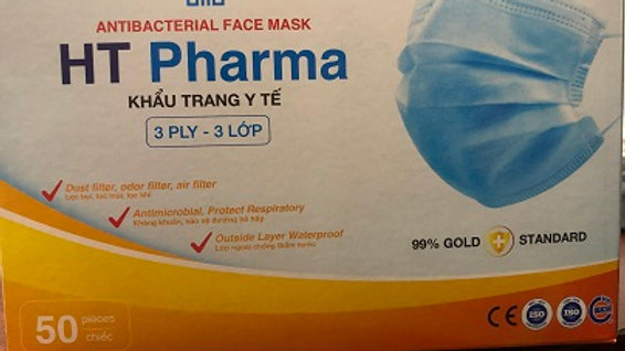 Level 2 or 3 Ply Ear Loop Medical Grade Face Mask Box of 50 PM2.5