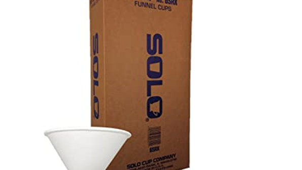 Solo Evacuator Cup 6 oz. Paper Liner, Rolled Rims, 250/Box. Fits Adec units