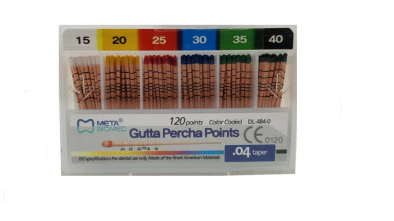 Meta- Biomed Gutta Percha Points .04 Special Taper 60 Points per box All Sizes