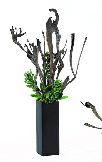 Tall Organic with Succulent Accent