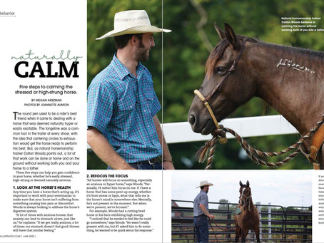 Naturally Calm, Horse Illustrated June 2020