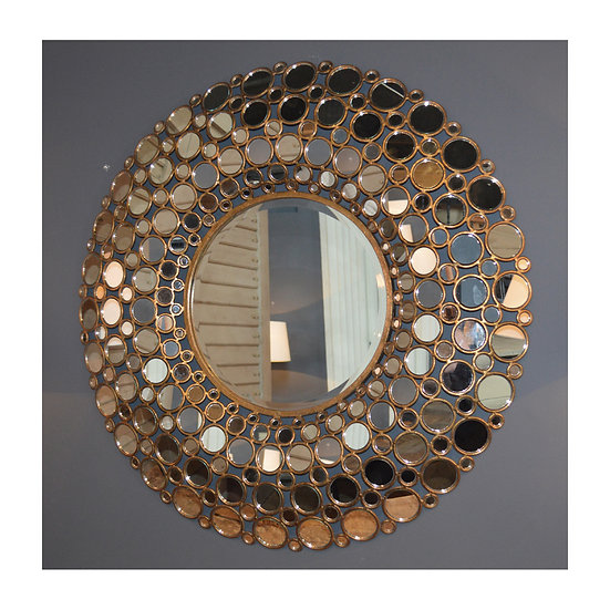 Round Sequin Wall Mirror