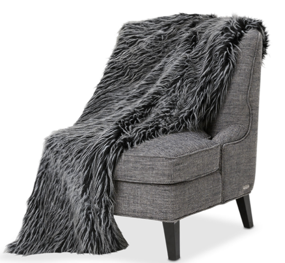 Michael Amini Gray Badger Throw