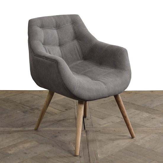 Modern Oak Accent Chair
