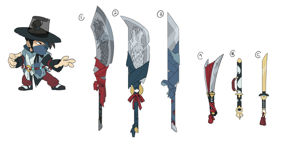 Jaeyun - Hanbok Skin and Weapon Concepts