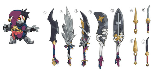Brawlhalla: Jaeyun Jester Skin and Weapon Concepts