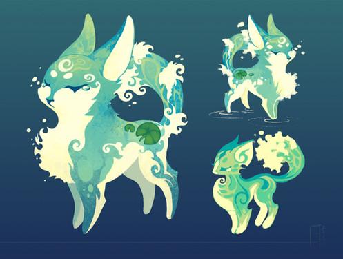 Guardians: Water Elemental Fox Concept