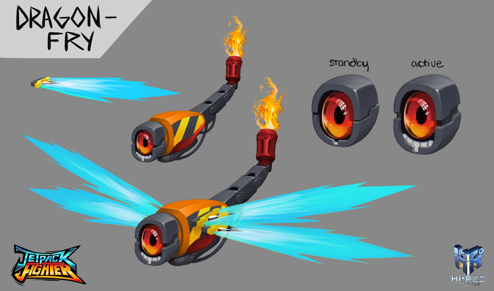 Jetpack Fighter: Dragon Fry Concept