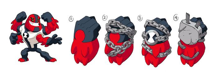 Ben 10 - Four Arms Gauntlets Concepts