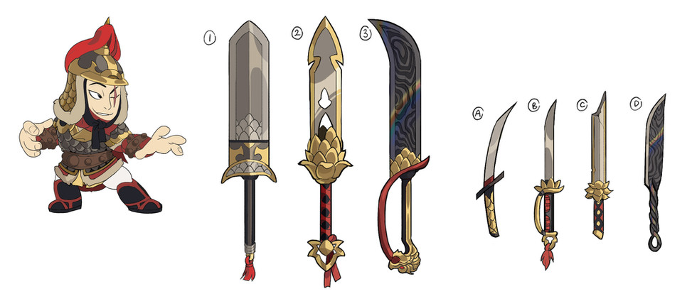 Brawlhalla: Jaeyun Soldier Skin and Weapon Concepts
