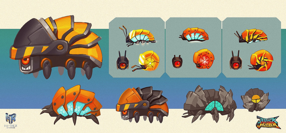 Jetpack Fighter: Roly Poly Bot Concept