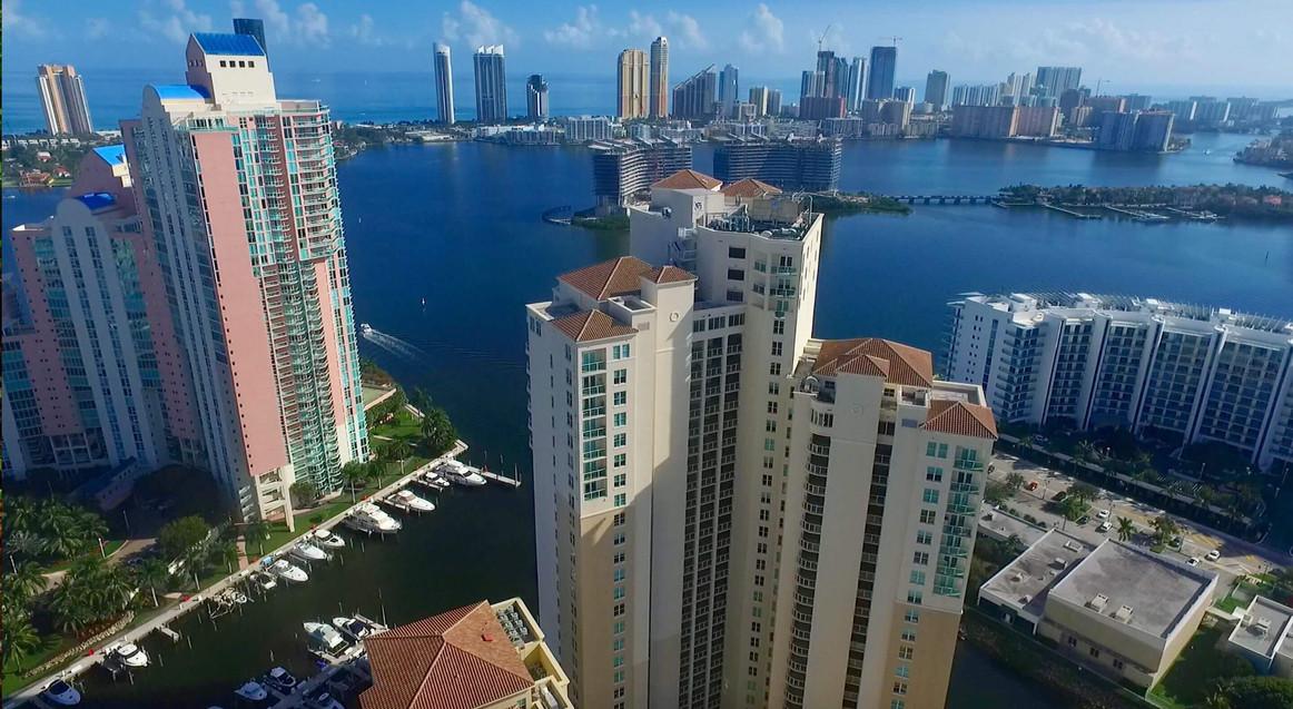 Miami Skyline Aerial Photography
