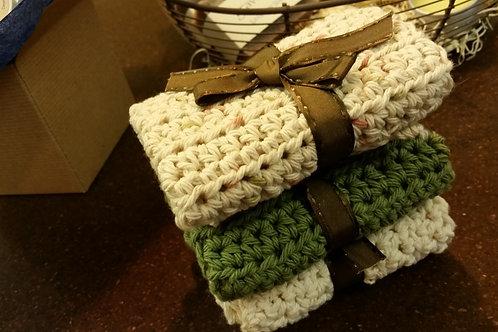 Cotton Crochet Washcloth