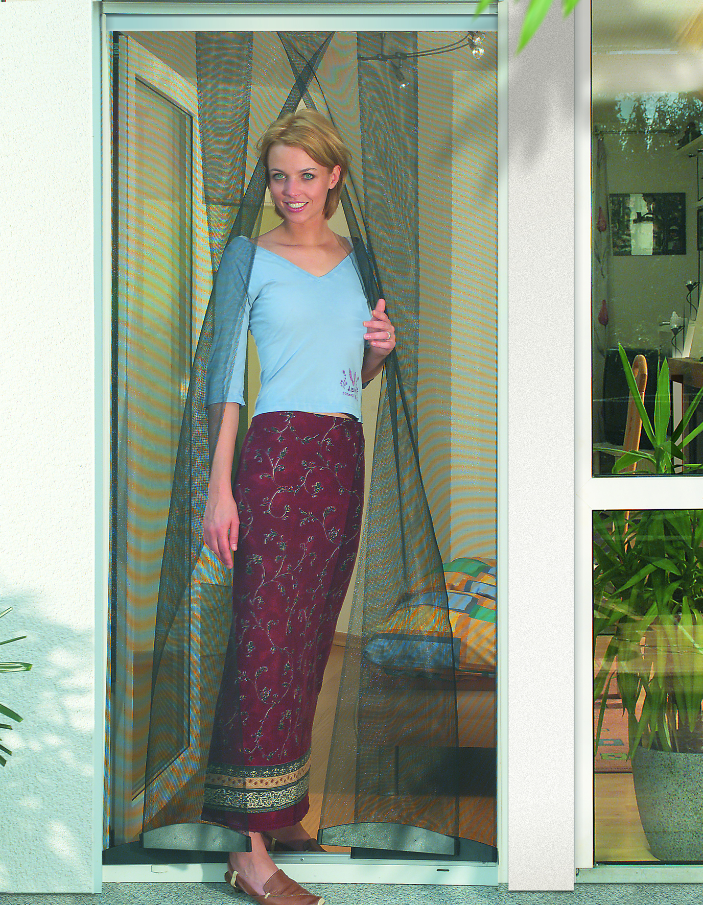 Insect Protection curtain for doors