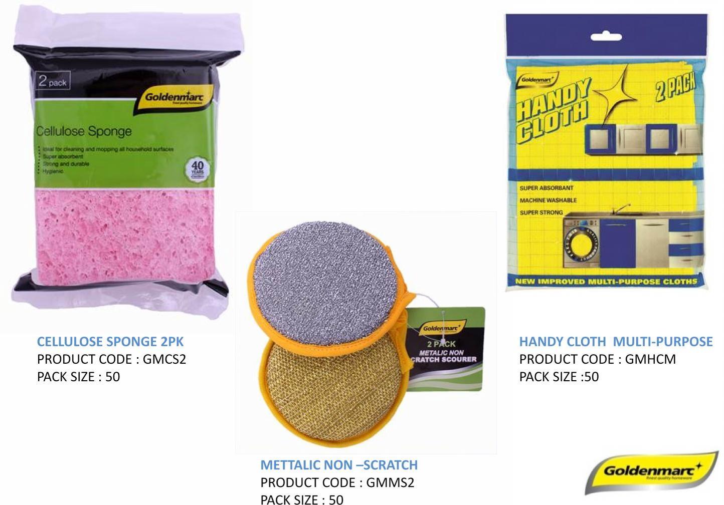 Cellulose Sponge - Metallic Non - scratch - handy cloth.png
