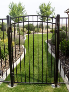 Residential Custom Ornamental Iron Gate - Frontier Fence Inc.