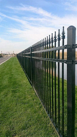 Residential Rod Iron Fence