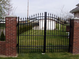 Residential Ornamental Iron Gate - Frontier Fence Inc.