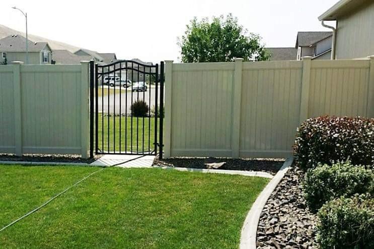 Rod Iron Gate - Vinyl Fence