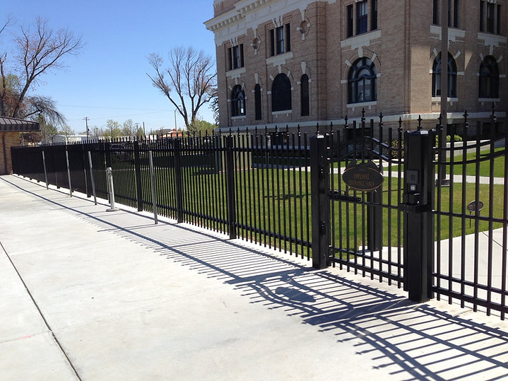 Commercial Ornamental Iron Fence - Frontier Fence Inc.
