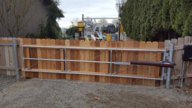 Large Wood Gate - Frontier Fence Inc.