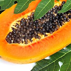Fresh Papaya juice with flaxseed (የፓፓያ ጭማቂ በተልባ)