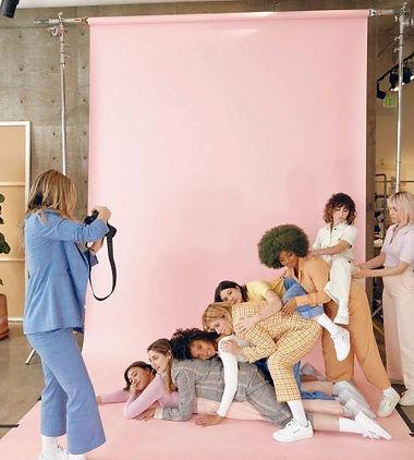 Diversity in the media, photoshoot behin