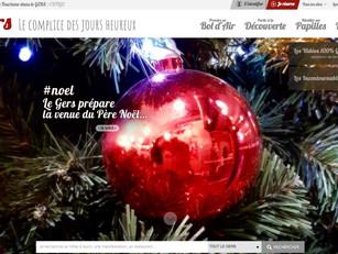 La plateforme web dans l'esprit des fêtes de fin d'année !