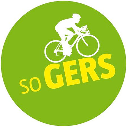 """Badge SO GERS """"J""""adooore le vélo !"""""""