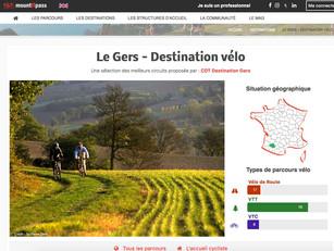 Open Data : les circuits vélo/VTT du Gers sur le site web Mountnpass
