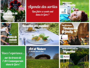 Comme un air de printemps pour le site web de la Destination Gers !
