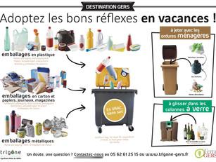 Le CDT et Trigone veulent sensibiliser les touristes en séjour dans le Gers sur le tri des déchets