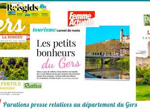 Revue de presse d'avril 2017 du Gers : 50 articles vantent la Destination !
