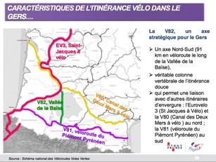 La V82 ou cyclo route vallée de la Baïse ouvre en 2018! Ce projet est inscrit dans le SPôTT Terra G