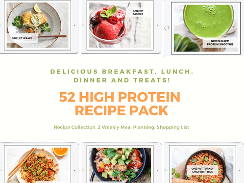 High Protein Recipe Collection and 2-Week Meal Planning