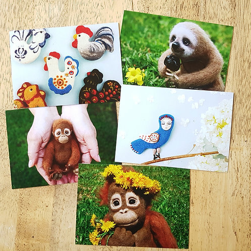 5 Postcard Pack