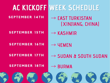 STAND Action Committee Kickoff Week - September 14-18