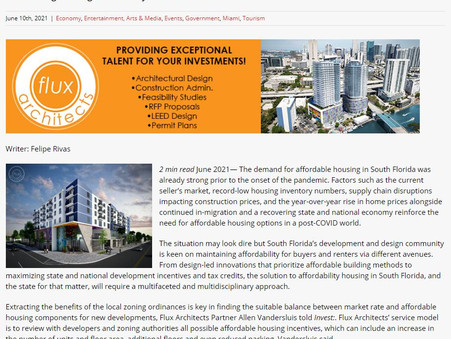 Flux Architects' principal Allen Vandersluis featured on Capital Analytics