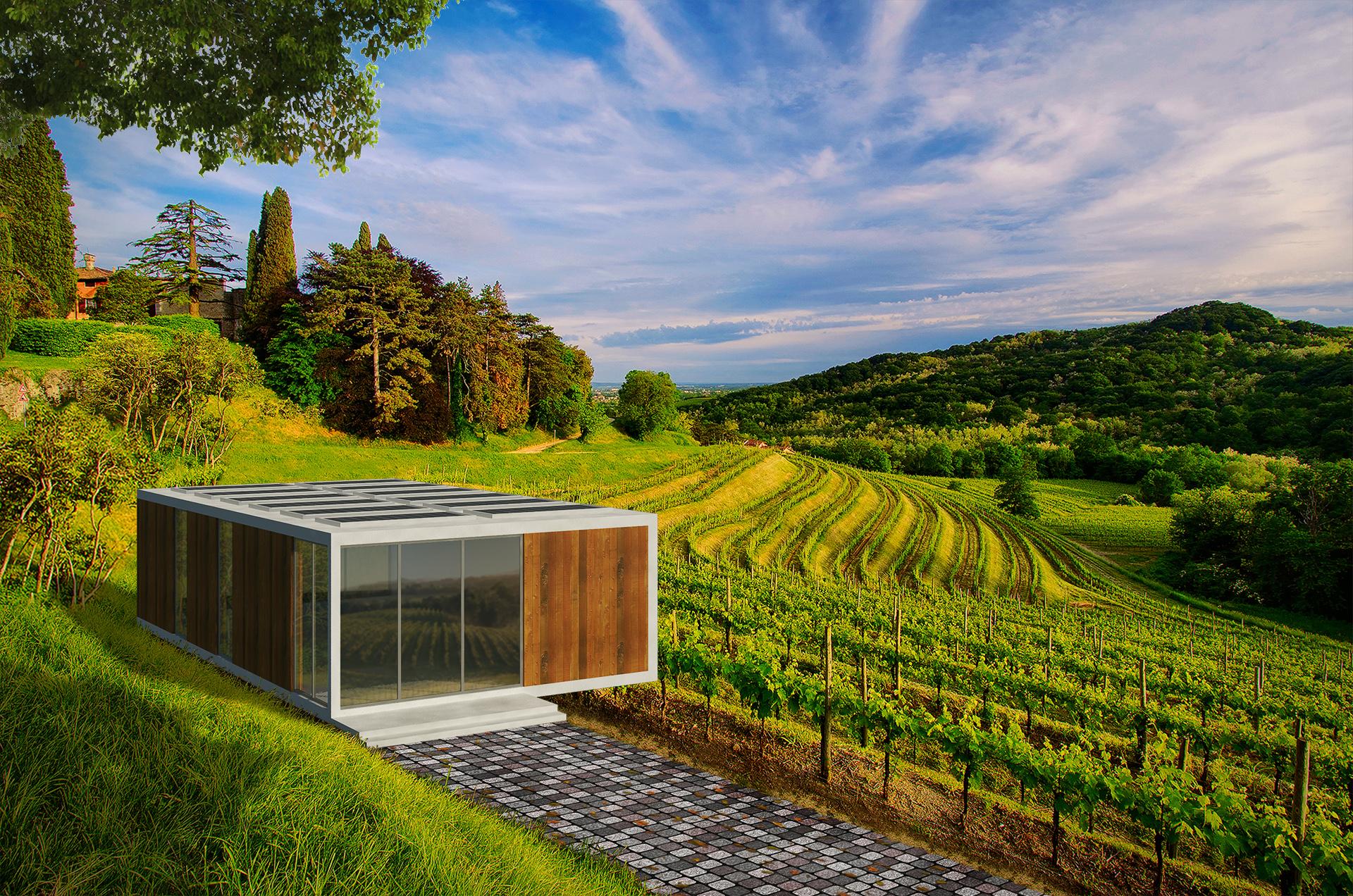 Hillside Vineyard House