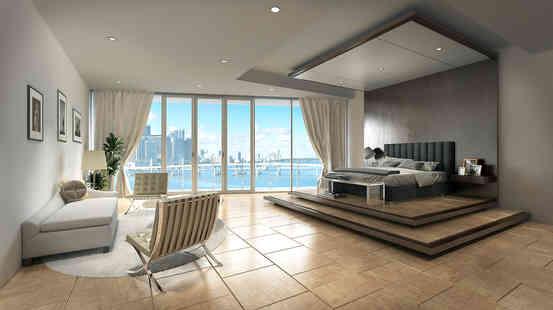 Master Bedroom Overlooking Miami