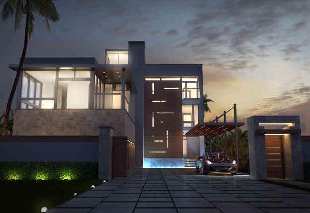 Luxury House Design at Night